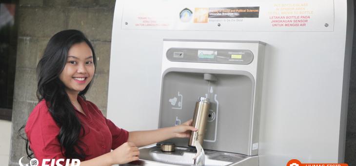 Fasilitas Air Minum; Kontribusi FISIP UB dalam Menjaga Lingkungan